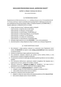 thumbnail of Regulamin świadczenia usługi Bezpieczne zakupy Szczecin